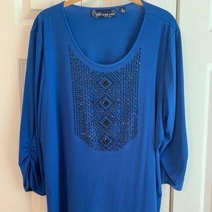 Susan Graver 3/4 sleeve blouse